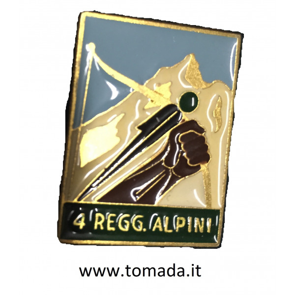 distintivo 4 regg. alpini