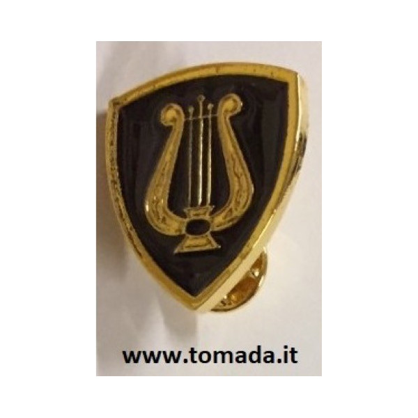 distintivo spilla con cetra o lira per fanfara o banda musicale