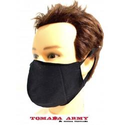 mascherina nera in cotone